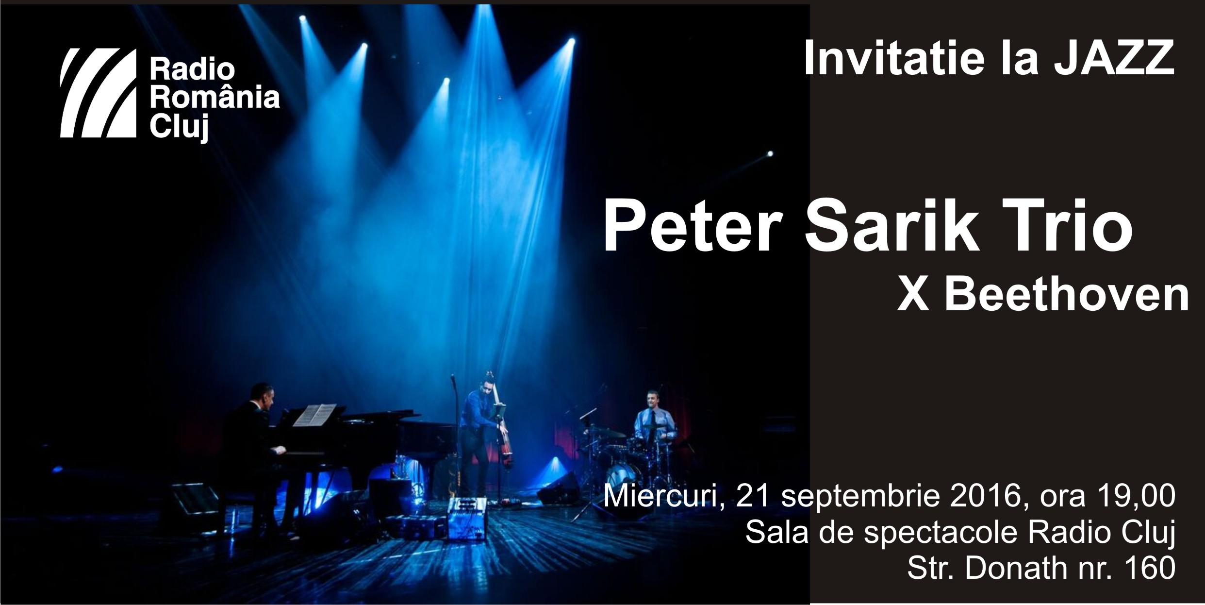 Peter Sarik trio live la Cluj